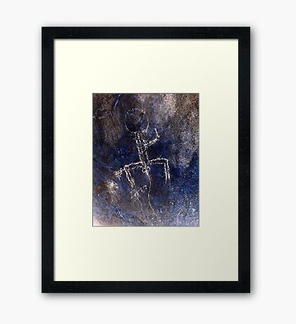 Boy Can't Wait-Hispanic Caribbean Taino Indian Caves Paintings Framed Print