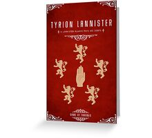 Tyrion Lannister Personal Sigil Greeting Card