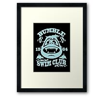 Bumble Swim Club Framed Print