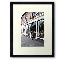 Opening for Tartan Trade - Campbell's shop. Framed Print