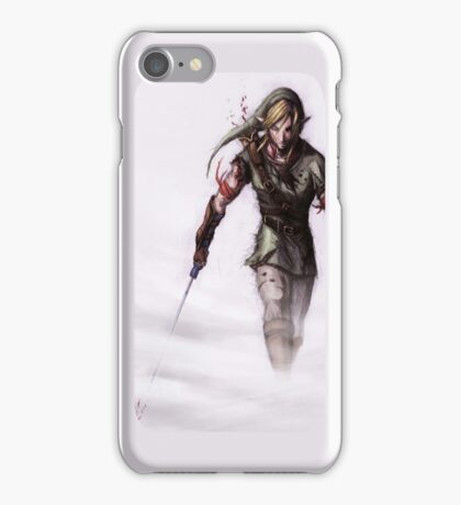 Zelda in the Mist White iPhone Case (No red title) iPhone Case/Skin