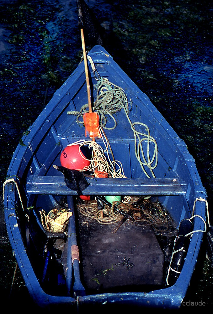 Blue Rowboat by cclaude