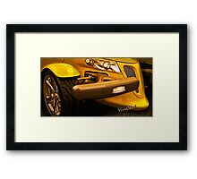 Yellow Prowler Detail Framed Print