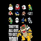 """They're All Out To Get You!"" Mario Characters Design by TalkThatTalk"