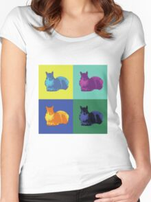 Pop Art Squirrels Women's Fitted Scoop T-Shirt