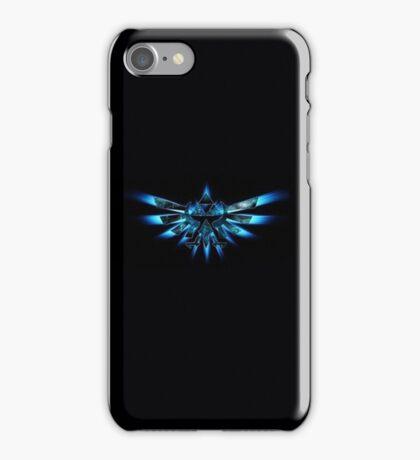 Zelda Triforce in Blue iPhone Case/Skin