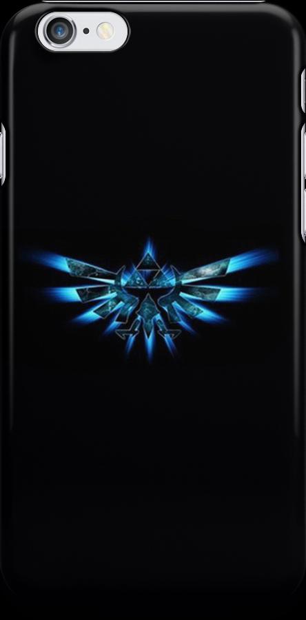 Zelda Triforce in Blue by TalkThatTalk