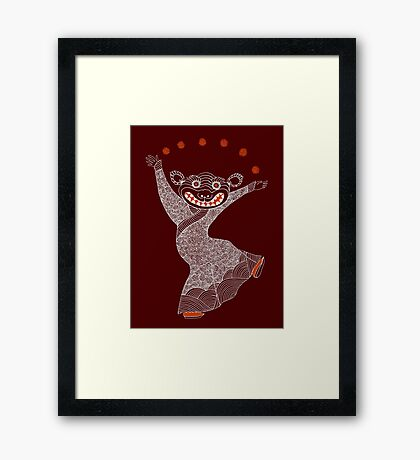Ghost Tiger Juggler with Red Shoes Framed Print
