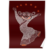 Ghost Tiger Juggler with Red Shoes Poster