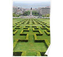 Eduardo VII park in Lisbon Poster