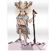Deer Man Poster