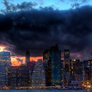 FiDi Sky: The Financial District Lights Up for the Night by Dave Bledsoe
