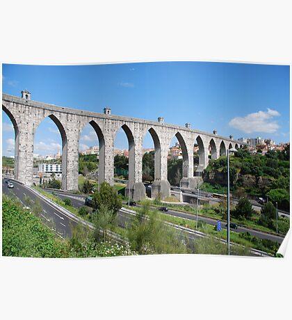 Aqueduct in Lisbon Poster