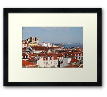Lisbon cityscape  Framed Print