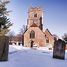 St Mary and All Saints, Boxley In The Snow by Dave Godden