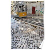 Bica elevator tram in Lisbon Poster