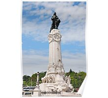 Marques do Pombal square in Lisbon Poster