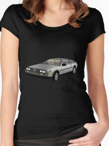 Hyrule Delorean Women's Fitted Scoop T-Shirt