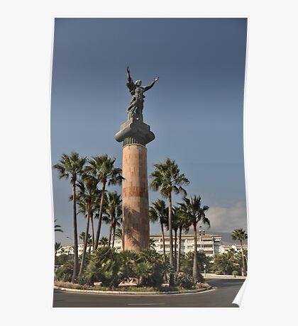 Puerto Banus Victory statue Poster