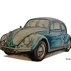 VW Beetle by BSIllustration