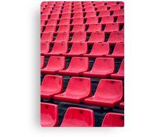 Football Soccer stadium seats Canvas Print