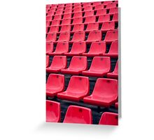 Football Soccer stadium seats Greeting Card