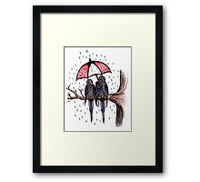 Tipping it Down Framed Print