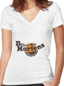 Dr. Martens ScairWair (With Bouncing Souls) Women's Fitted V-Neck T-Shirt