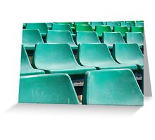 Stadium green seats Greeting Card