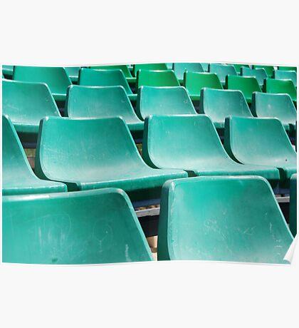 Stadium green seats Poster