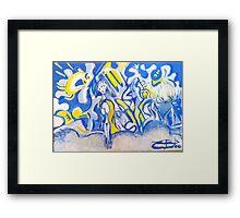 Inca Azul Amarillo Framed Print