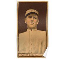 Benjamin K Edwards Collection Napoleon Rucker Brooklyn Dodgers baseball card portrait Poster