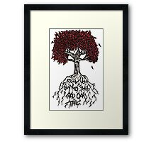 Follow You Down To The Red Oak Tree Framed Print