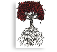 Follow You Down To The Red Oak Tree Canvas Print
