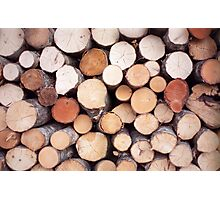 Wood logs Photographic Print
