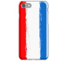 Luxembourg flag grunge  iPhone Case/Skin