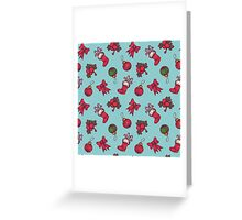 christmas pattern Greeting Card