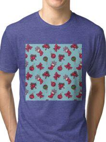 christmas pattern Tri-blend T-Shirt