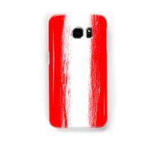 Austria flag grunge  Samsung Galaxy Case/Skin