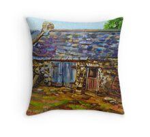 """Farm Buildings, Townland of Araboy, Bushmills, County Antrim."" Throw Pillow"