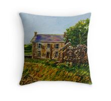 """Deserted Dwellings, Araboy, County Antrim."" Throw Pillow"