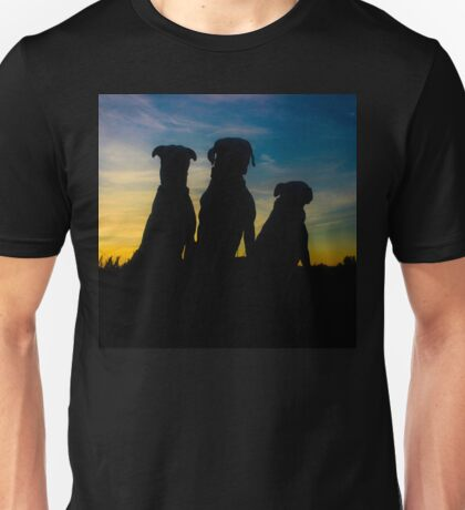 SUNSET DOGS Unisex T-Shirt