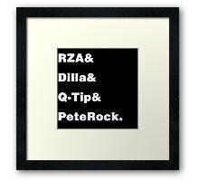 Hip Hop Helvetica Framed Print