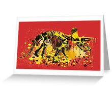 Drip Dry Triceratops Greeting Card