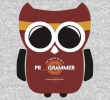 Programmer T-shirt - Owl Programmer One Piece - Short Sleeve