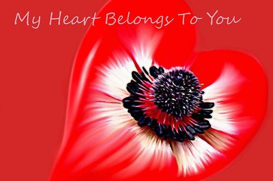 Anemone Heart by Carolyn Wright