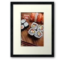 Sushi - Japonese food Framed Print