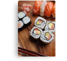 Sushi - Japonese food Canvas Print