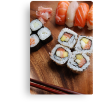 Sushi - Japonese food Canvas Print