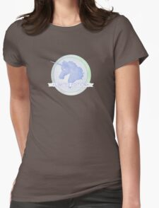 Blue Unicorn Logo - 'Limited Edition' Design Womens Fitted T-Shirt